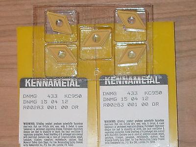 5 Pcs. Dnmg 433  Kennametal Kc950 Carbide Inserts 1 Box Of 5