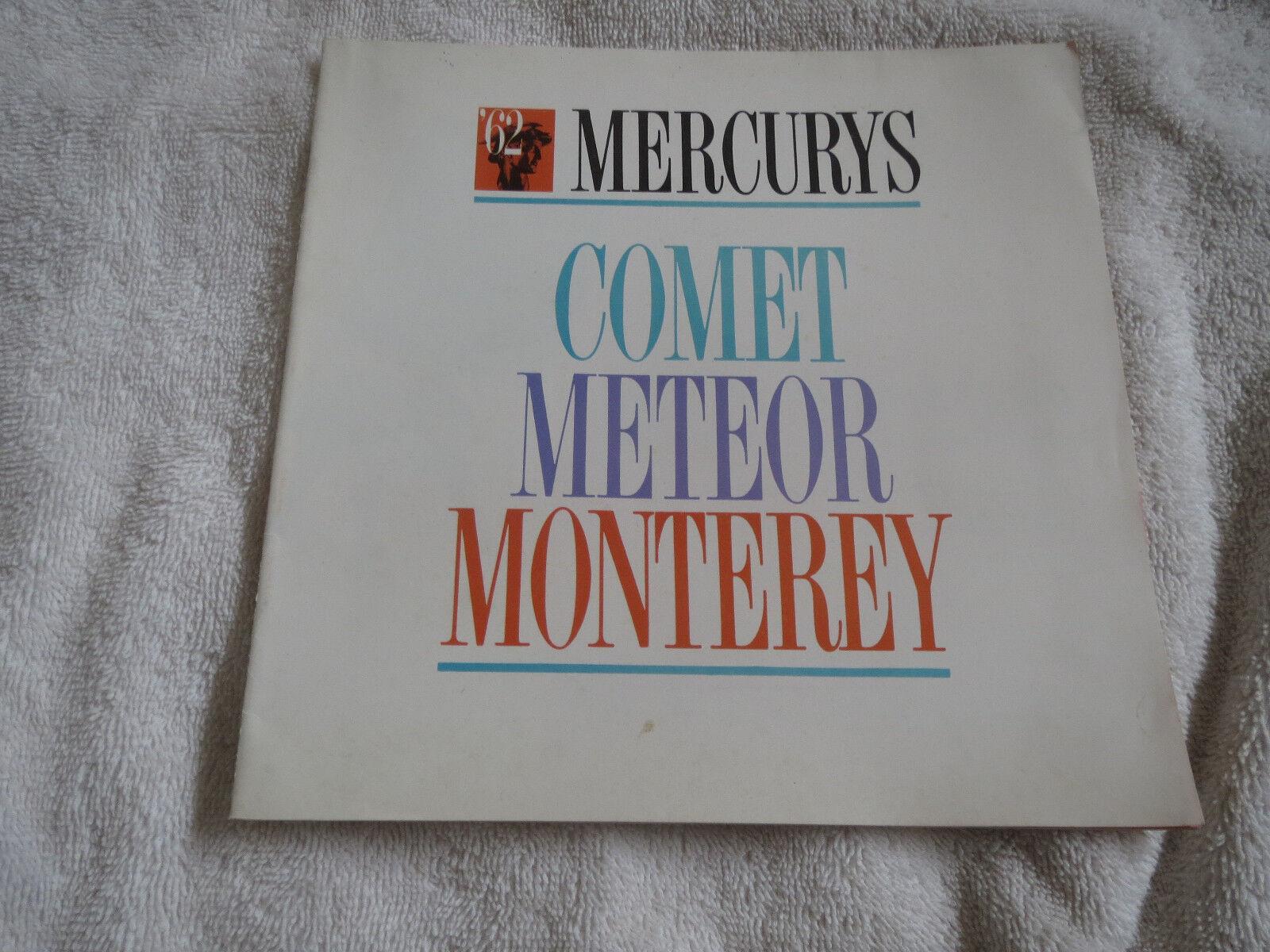 1962 MERCURY METEOR COMET MONTEREY INTRODUCTION DEALERSHIP SALES BROCHURE
