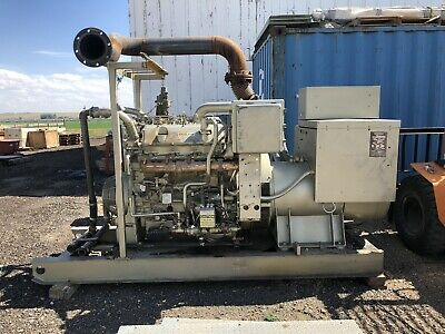 Cat 3408 Genset 480 Volt 285 Kw Skid Mounted Eujx350 Sr4