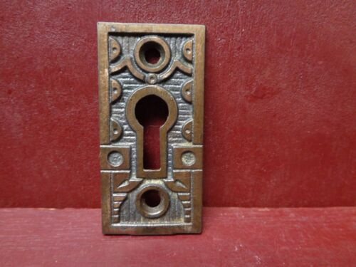 1 ANTIQUE LARGE CAST IRON KEYHOLE COVER MORE AVAILABLE #15