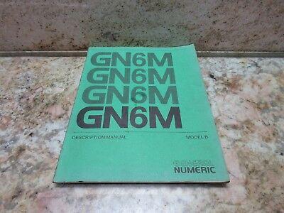 General Numeric Description Manual Model B 6m Gn6m Burke Cnc3md  Mill