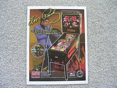 Elvis Pinball Machine Original Sales Flyer by Stern  New Old Stock