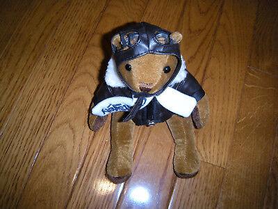 Flight Safety International Aviator Teddy Bear with Bomber Jacket & Helmet NEW
