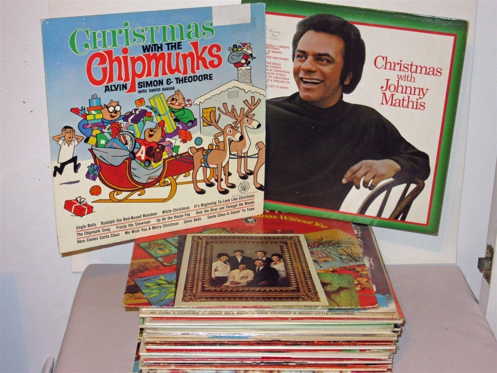 Lot 30 Vtg Christmas Music LP Records Various Artists Chipmunks ...