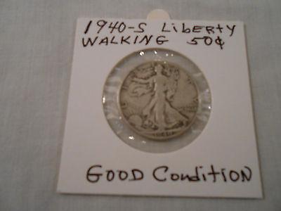 COIN:USA: 1940-S Liberty Walking Half Dollar: 1 Coin:Silver/Circulated/Original