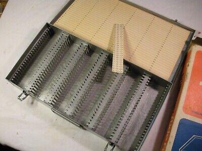 Microscope Slide Casebrumberger Metal 150 Slides 2x2 Vintage New Old Stock