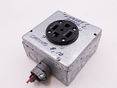 Leviton 278 Receptacle Outlet 30a 3 Pole 4 Wire 125250v Electrical Box 2 Hp