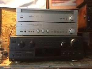Lot amps, receivers, speakers, cd player,cassette decks..,