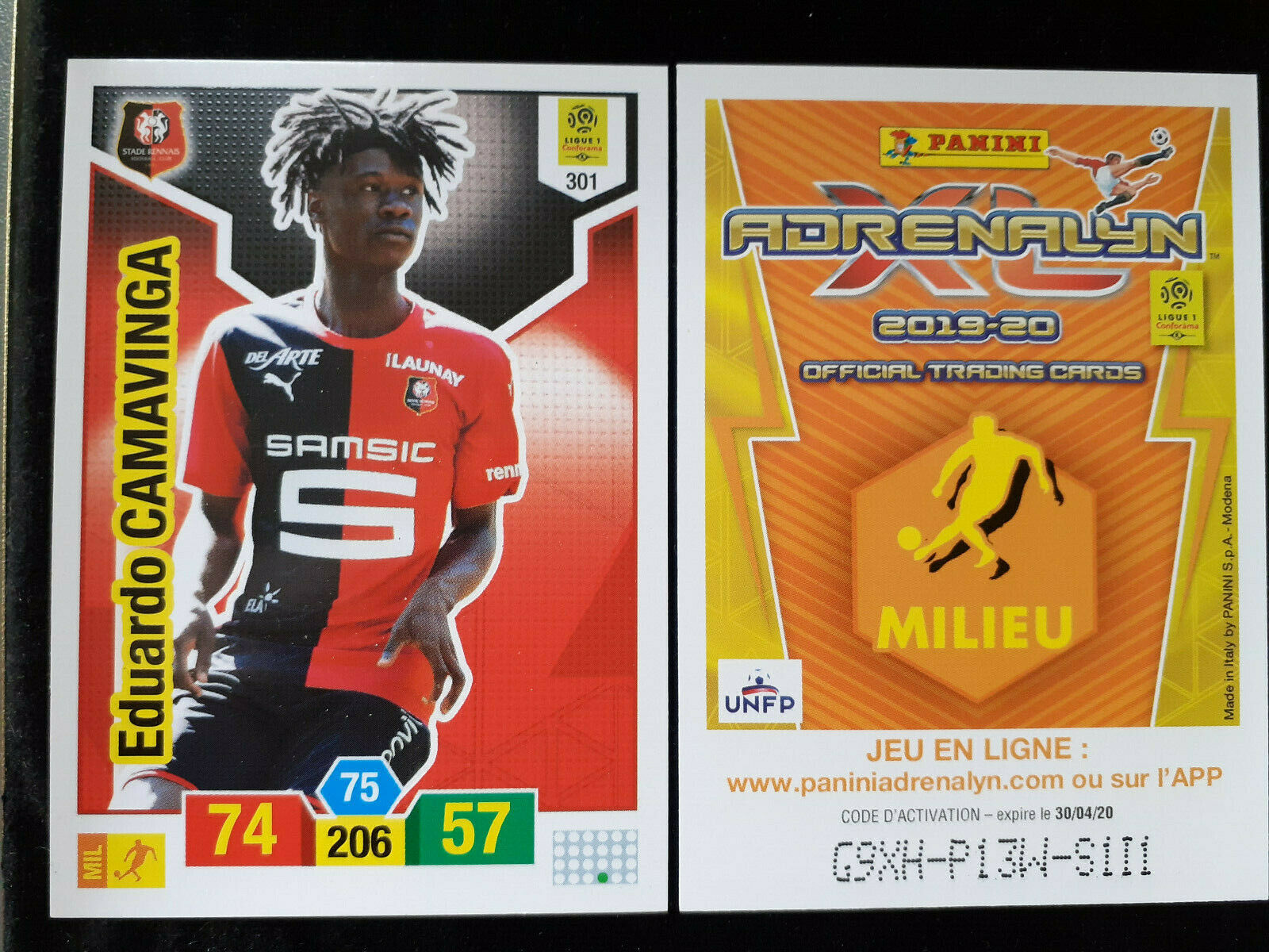 Eduardo camavinga rookie 301 rennes panini adrenalyn xl 2019-20 real madrid?