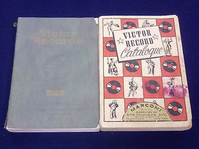 1922-1941 VICTOR RECORDS CATALOGS LOT OF 3 - LISTS OF ARTIST - J 1977