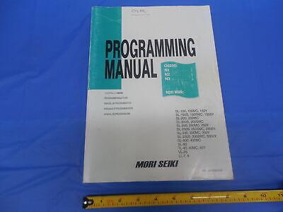 Mori Seiki Machine Cnc Mill Programming Manual Pm-nltmsc518 Sl Sl-s Tl Vl Ll