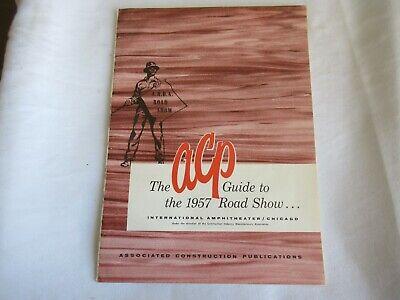 1957 Construction Equipment Road Show Brochure Bucyrus-erie Euclid Clark Oshkosh