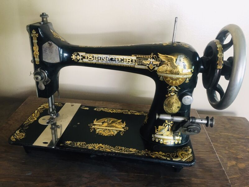Singer 27 Sphinx Egyptian Decal Sewing Machine 1906