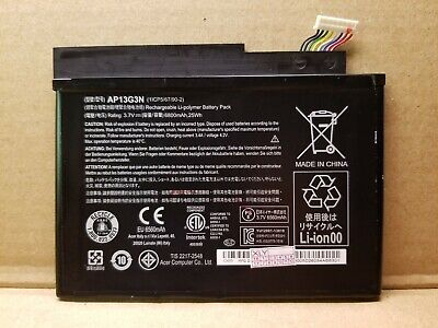 REPLACEMENT Li BATTERY AP13G3N for ACER ICONIA W3-810 TABLET 8' SERIES 6800mAh