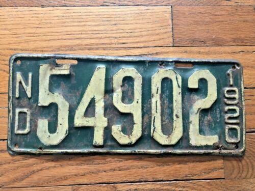 1920 North Dakota License Plate