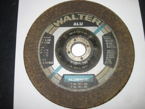 """Lot of 9 - WALTER 7""""  GRINDING WHEEL for ALUMINUM - 7 X 1/4 X 7/8 - Type 24"""
