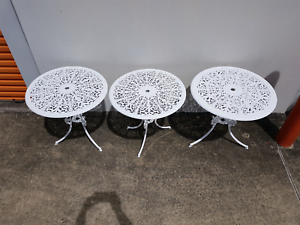Cast Aluminium Outdoor Tables - 2 remaining Chermside Brisbane North East Preview