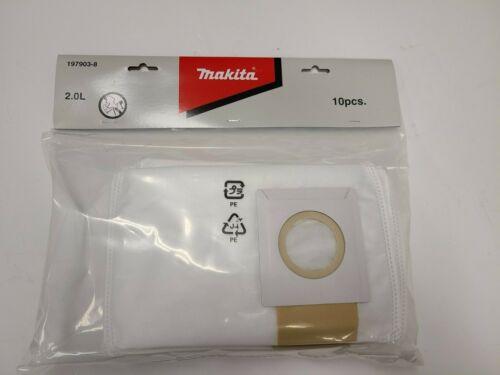 Filter Dust Bag for Makita Battery Vacuum, 20 Pack 197903-8, Genuine Makita Part
