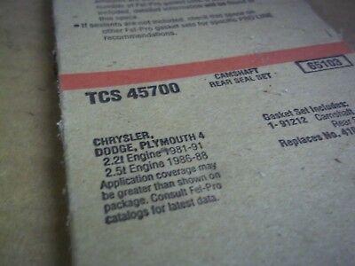 1987 Dodge Aries Engine - Engine Camshaft Seal Rear Fel-Pro TCS 45700