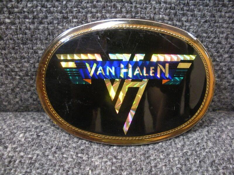 Vintage 1978 Rare VAN HALEN Belt Buckle Pacifica Prism Logo FREE SHIPPING!