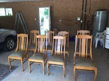 1940's oak chairs x 8 Burra Queanbeyan Area Preview