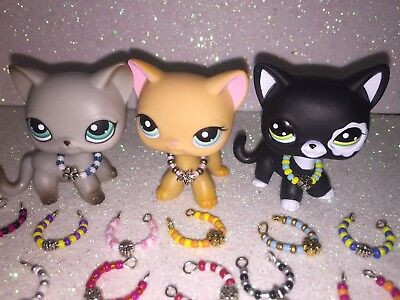 Littlest Pet Shop LPS Accessories 5 Pieces Beaded Necklaces with Charm USA Selle