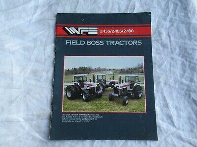 White 2-135 2-155 2-180 Field Boss Tractor Brochure
