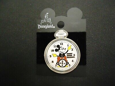DISNEY DLR MICKEY MOUSE ON INGERSOLL POCKET WATCH PIN ON CARD