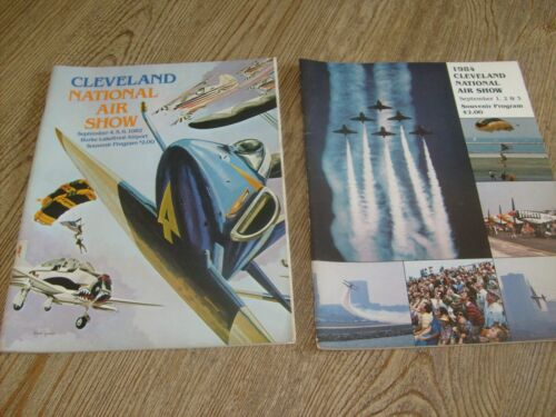 Lot of 2 Cleveland National Air Show Souvenir Programs 1982 & 1984 Ohio Airshow