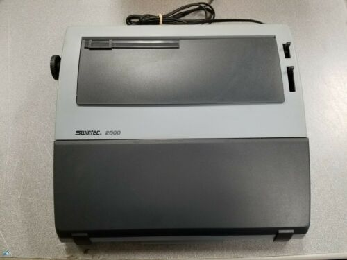 Swintec 2500 Personal Typewriter with Keyboard Cover