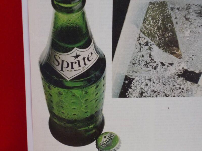 "MID TWENTIETH CENTURY ""SPRITE"" SODA ADVERTISEMENT ON PAPER..NICE."