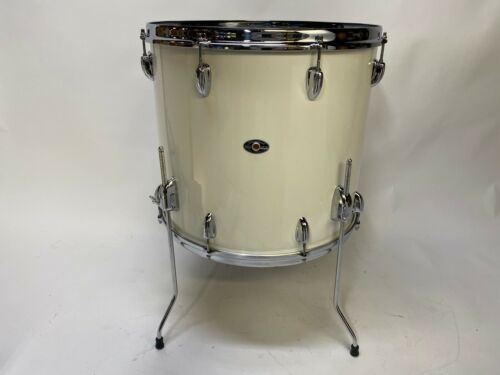 18x16 Slingerland 4 legged  floor tom Niles era white cortex wrap 3 ply