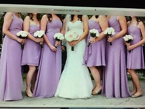 5 Bridesmaid dresses and 1 junior Bridesmaid dress for sale