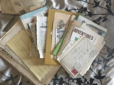 Vintage Ephemera Paper Lot, scrapbook, junk journal, mixed media, Paper Dolls