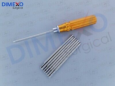 Bone Screwdriver Set Quick Coupling Handle Veterinary Drill Bit Orthopedic Set