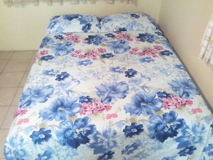 Cotton Satin(100%) Bed sheets(250 x 275 cms) +2 pillow cases