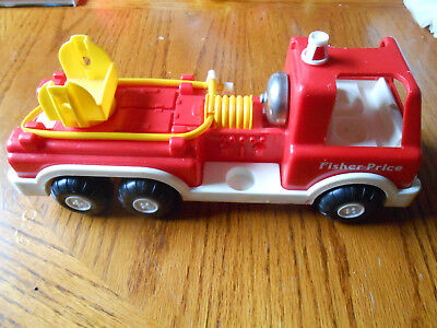 Vintage 1988 Fisher Price Fire Truck #2361 No Figures-no ladder