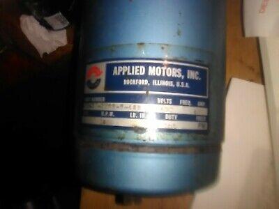 Applied Motors Inc. Permanent Magnet 24 Volt Dc Motor 1800 Rpm