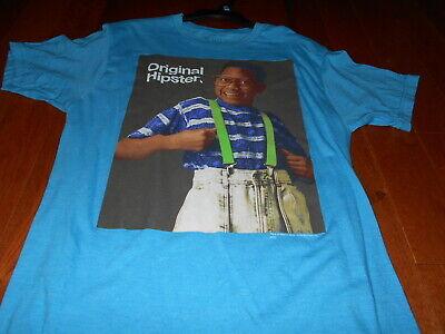 Steve Urkel Hipster T-shirt Ripple Junction Size Medium Mens Blue Graphic TV