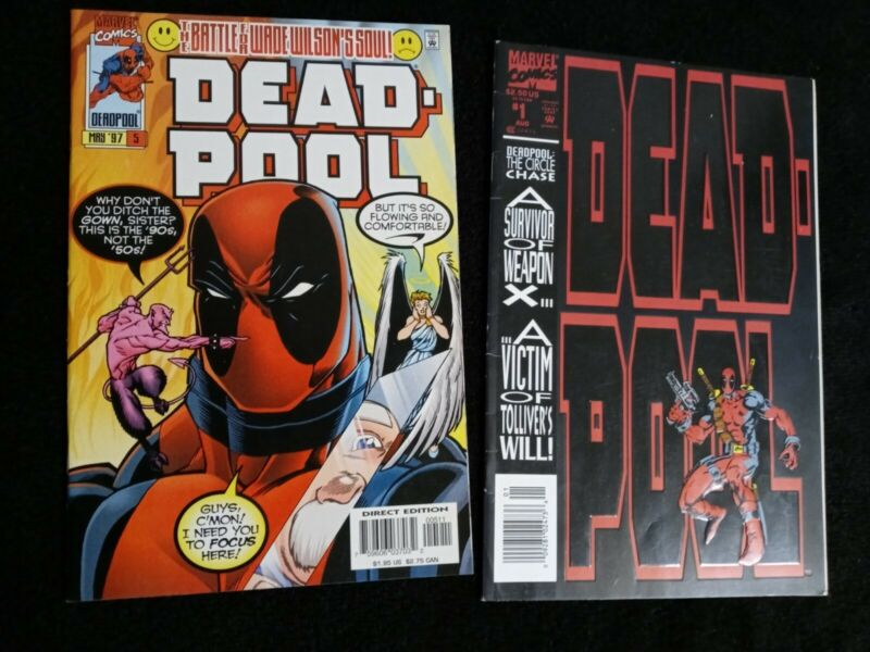 Deadpool #1 1993 Marvel Comics Circle Chase Newsstand Variant 1st Solo Story