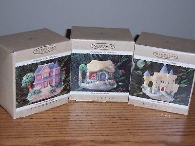 Hallmark Lot of 3 TEAPOT Ornaments, Invitation to Tea Collection, NIB 1995 - Teapot Invitations
