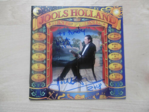 "Jools Holland Autogramm signed CD Booklet ""Best Of Friends"""