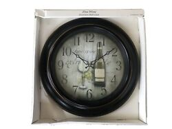 NEW Wine Theme Battery Operated Large 18 Wall Clock