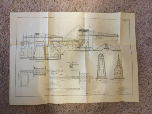 1910 Panama Canal Diagram Arrangemt Material Handling Cranes Miraflores Locks