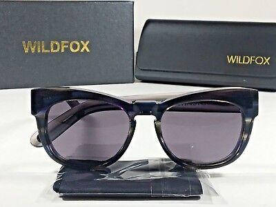 Authentic Wildfox Winston Sunglasses Women's Square Clear Blue Gray Frame (Winston Sunglasses)