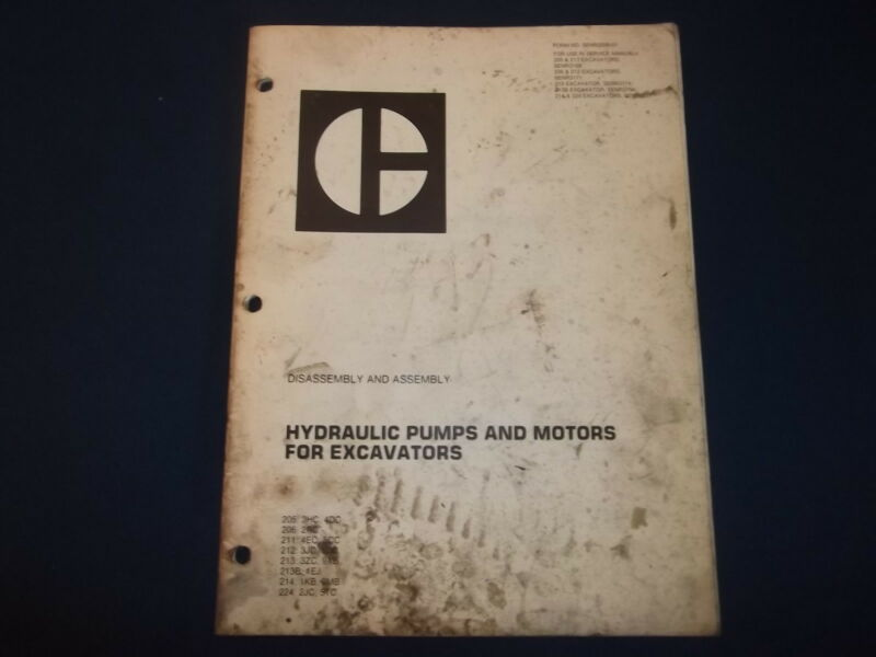 CAT CATERPILLAR EXCAVATOR HYDRAULIC PUMPS & MOTORS DIS/ASSEMBLY MANUAL SENR3358