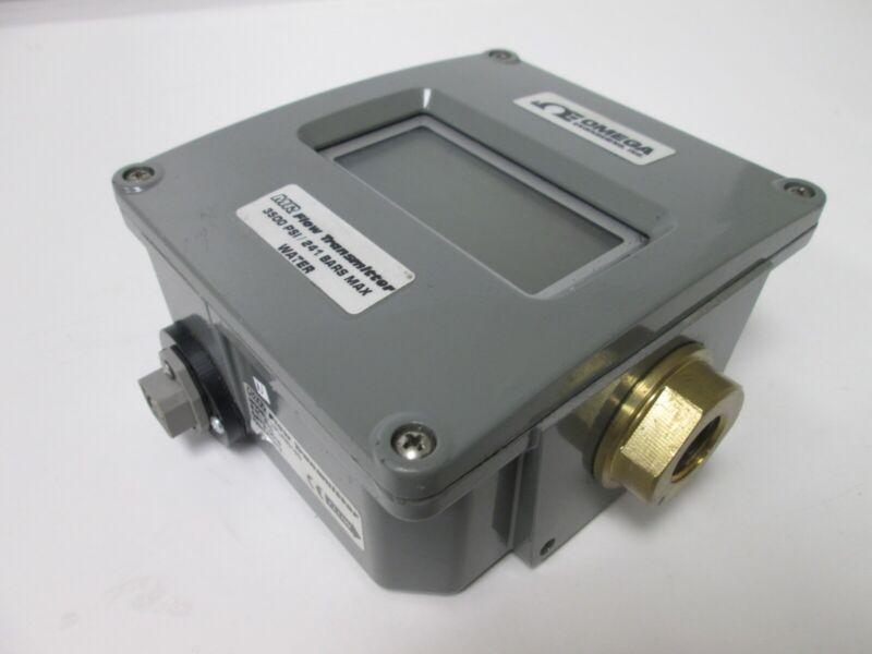 """Omega HFLR6315D Digital Flow Transmitter (Water), Flow: 1-15GPM, Ports: 1/2"""" NPT"""