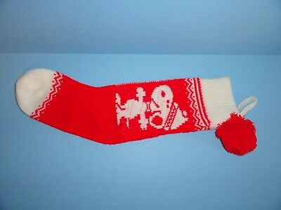 Peanuts Snoopy  KNIT CHRISTMAS stocking  TACKY SWEATER DECOR  (Tacky Christmas Decorations)