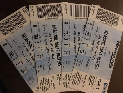Melbourne Darts masters grand final table tickets