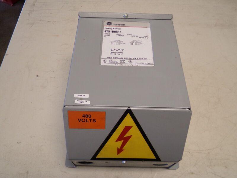 GE General Electric 9T51B0511 Transformer 1.5 kVA 240/480V 120/240V 9T51B